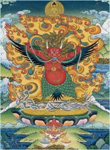 Tibetaanse beoefening van de Rode Garuda